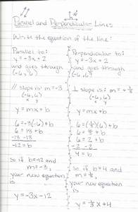 4 5 Equations Of Parallel And Perpendicular Lines Answer