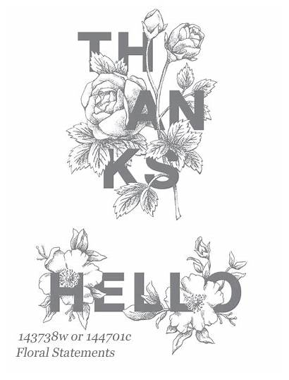 Floral Statements Stampin Sentiments Stamp Hello Card