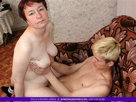 Old Russian Granny Enjoys Being Fucked By A Young Boy Who Fucks Her Twat And Then Cums Into Old