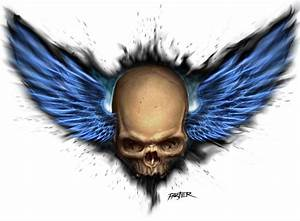 Skull With Wings - Cliparts.co