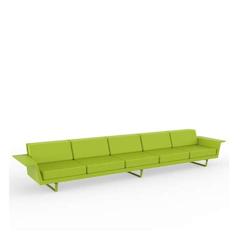 canapé droit 5 places flat canapé extérieur 5 pl canapé droit vondom