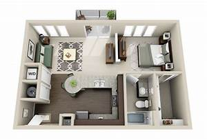50 plans en 3d dappartement avec 1 chambres sims for Plan maison avec appartement