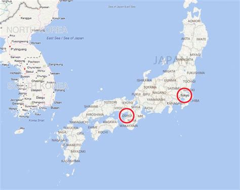 japan earthquake map update strong tremors shake osaka