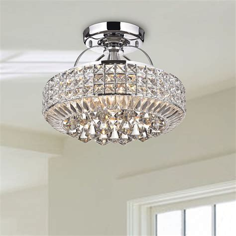 modern 4 light chandelier semi flush mount l home ceiling lighting ebay