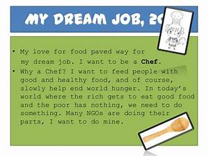 Challenge Future  My Dream Job  Be A Chef And End Help