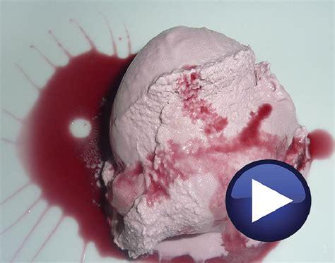 molecular cuisine helado de arándanos cocinista es