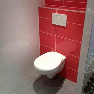 Pose Toilette Suspendu : peinture wc suspendu coffrage pour wc suspendu habillage ~ Melissatoandfro.com Idées de Décoration