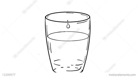 drop  water dripping  glass drawing  animation stock