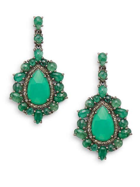lyst bavna emerald chrysoprase champagne diamond