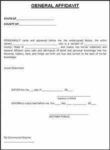 How to write a Affidavit Form Free Word's Templates
