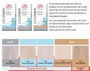 Wella Color Charm Toner Chart Wella Hair Toner Types With Images Hair Toner Wella