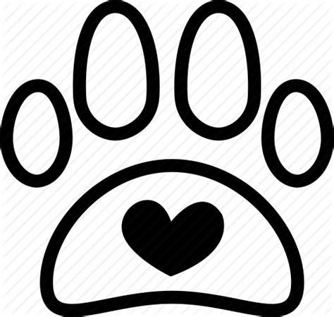 Love Dog Paw Icon