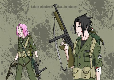 sasusaku ww2 by ihatecollege on deviantart