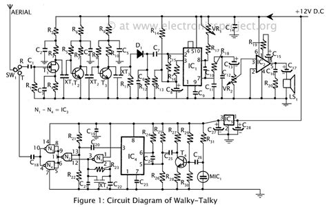 how to make circuit of walkie talkie complete with both