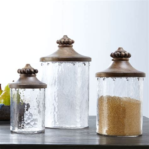 brown kitchen canisters beaded glass kitchen canister set