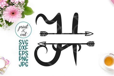split monogram individual letter  arrow svg digital  cut  kartcreation thehungryjpegcom