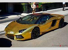 Gold Lamborghini Aventador Roadster LP7004 ★ Become a