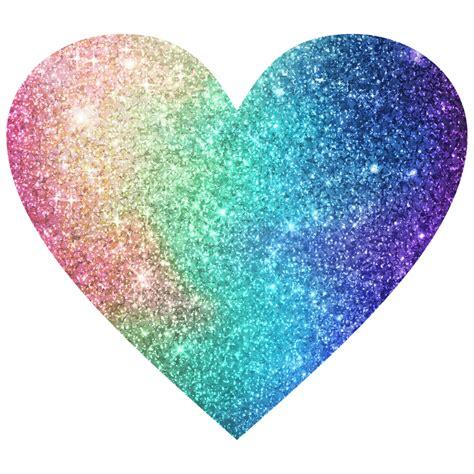 glitter heart rainbow sticker  constance keller
