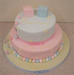 Boy and Girl Twins Cake Decoration for Christening Party