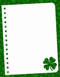 A shamrock-themed border. This is great for St. Patrick's ...