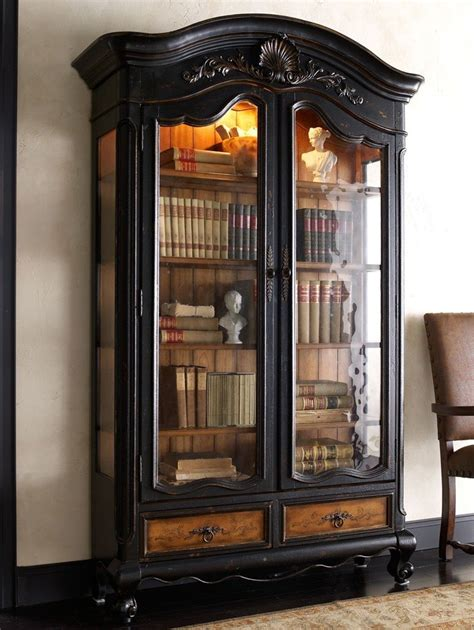 Black Wooden Bookcases by Black Wood Bookcase With Doors Thebestwoodfurniture