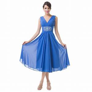 Aliexpresscom buy cocktail dress 2016 women double v for Mid length dress for wedding