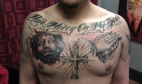 religious chest tattoo headless hands custom tattoos