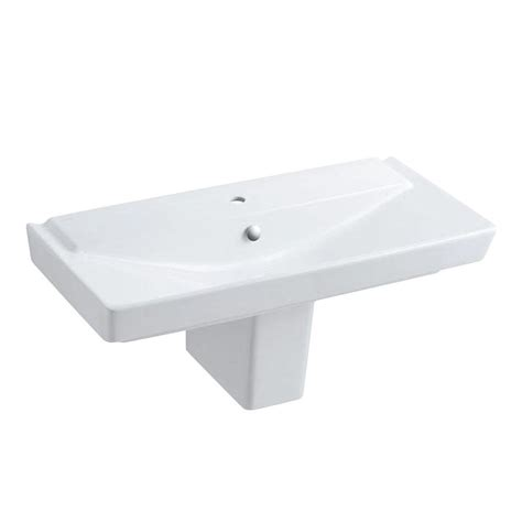 Kohler Reve Pedestal Sink by Kohler Reve Semi Ceramic Pedestal Combo Bathroom Sink In