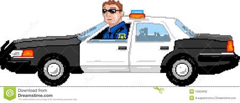 Pixelart Police Car Stock Vector Illustration Of Officer