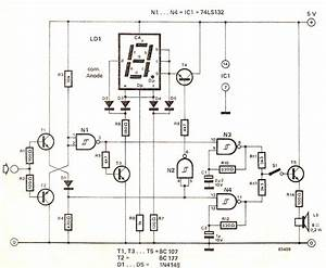 Digital High  Low Logic Tester Circuit Diagram Under