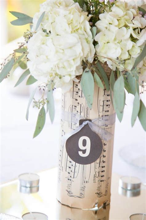 music themed table decorations 20 wedding ideas for music lovers pretty designs