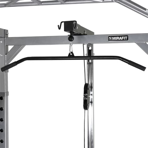 squat rack with cables mirafit 350kg heavy duty olympic power cage squat rack
