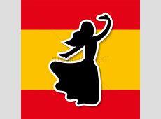 Spain flag and flamenco dancer Vector Image 1565322
