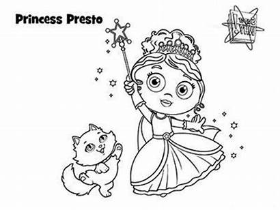 Coloring Princess Presto Wand Magic Using Superwhy