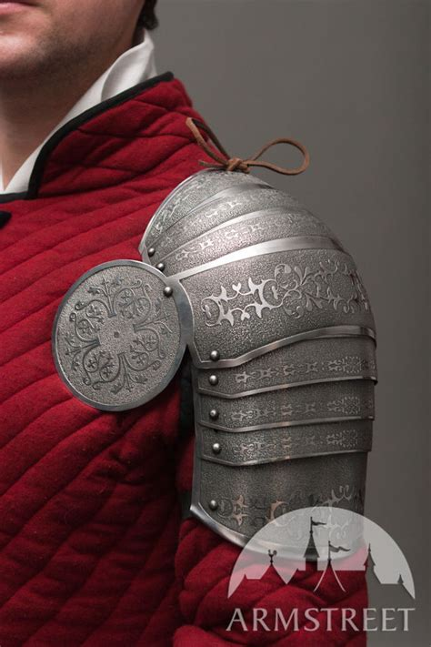 armor pauldrons spaulders medieval sca etched  sale