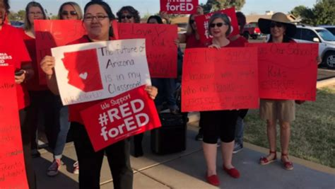 Arizona Teachers Demanding Raise Protesting At Schools Across The State  Wcbi Tv  Your News Leader