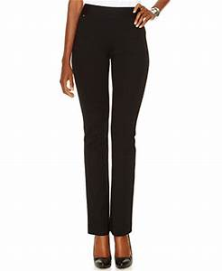INC International Concepts Petite Pull-On Straight-Leg