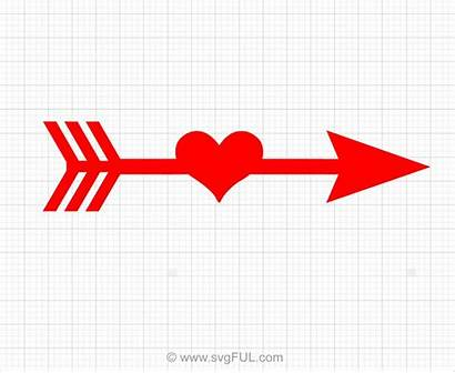 Arrow Heart Clipart Svg Svgful Valentines 123clipartpng
