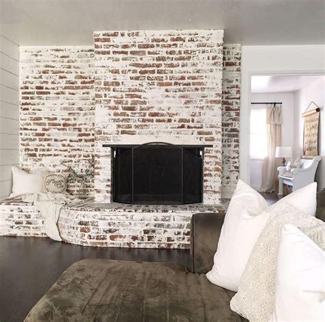 faux german smear fireplace   brick fireplace