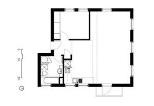 simple 2 bedroom house plans two apartments in modern minimalist japanese style