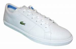 Lacoste Marcel Cup White/Blue Leather Womens Athletic ...