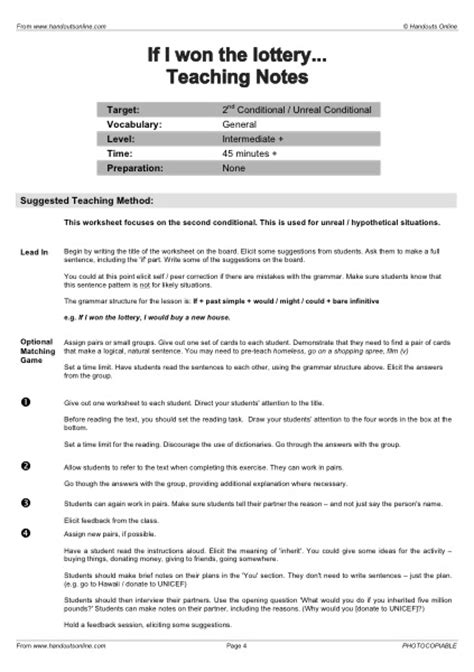 efl tefl esl worksheets handouts lesson plans and