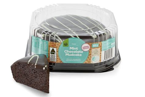 woolworths  selling  limited edition choc mint mudcake