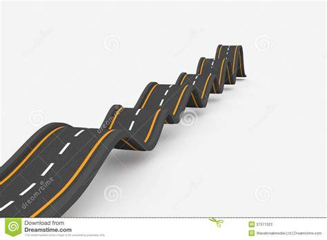 Bumpy Road Background Stock Illustration. Image Of