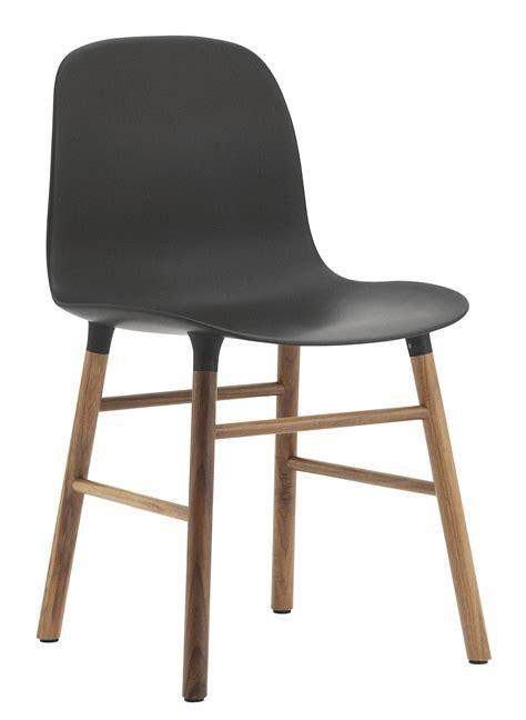 chaise sans pied chaise form pied noyer noir noyer normann copenhagen