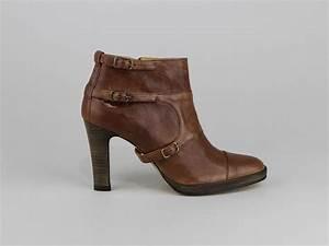 Chaussures Atelier Voisin / PROMIS / Boots Cognac Cuir Lisse