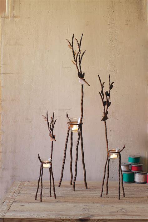 iron reindeer  tealight cups