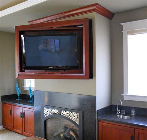 entertainment center  hidden tv traditional home