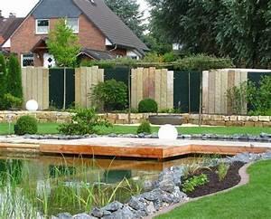 Garten Ideen Modern : sichtschutz garten modern stein wohnideen ~ Buech-reservation.com Haus und Dekorationen