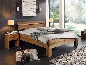 Massivholz Betten 180x200 : oskar ii massivholzbett 180x200 cm wildeiche ~ Markanthonyermac.com Haus und Dekorationen